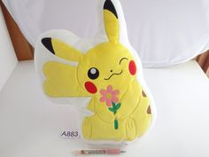 Pokemon Center Pikachu cushion.with the bonus item From japan- #PokemonCenter