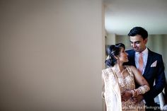 indian wedding bride groom portrait reception http://maharaniweddings.com/gallery/photo/10975