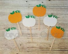 12 Glitter Pumpkin Cupcake Toppers - Fall Party Cupcake Toppers - Thanksgiving Cupcake Toppers - Pumpkin Baby Shower Cupcake Toppers #babyshowerideas4u #birthdayparty #babyshowerdecorations #bridalshower #bridalshowerideas #babyshowergames #bridalshowergame #bridalshowerfavors #bridalshowercakes #babyshowerfavors #babyshowercakes