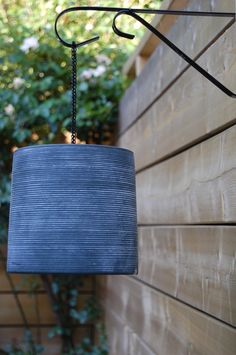 Outdoor lantern love: made from a recycled terra cotta pot!