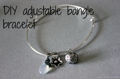 adjustable bangle. She obviously isn't a jewelry-maker, or she'd have gone for memory wire, but it's clearly written and photographed!