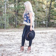 Dont get me wrong I love the blonde but some days I miss the dark brown • • • #ootdshare#look#outfit#fallfavorites#streetstyle#lotd#potd#falloutfit#outfitideas#leggings#guess#florals#boots#pinkblush#hat#lace#styleblogger#blog#beauty#beautyblogger#l4l#lifestyle#lifestyleblogger#clothes#beauty#instagood#instastyle#like#follow#bloggers