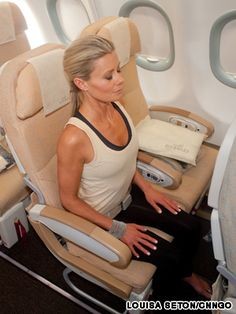 Airplane #yoga: 18 exercises for healthy flying  #Travel #Holidays