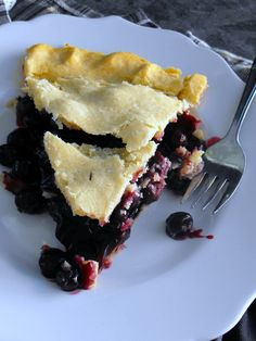 """Gluten Free Blueberry Pie using Glutino pie crust mix: it's just as good as the """"regular"""" gluten filled version; maybe better."""
