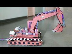 How to Make a Remote Control Hydraulic Excavator / JCB at Home Science Models, Science Exhibition Working Models, Cardboard Car, Hydraulic Excavator, Air Gear, Mini, Toys For Boys, Kids Boys, Youtube