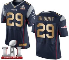 Nike Patriots  29 LeGarrette Blount Navy Blue Team Color Super Bowl LI 51  Men s Stitched 901276cd7