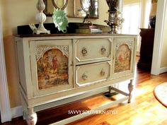 How to..... with mod podge - distress paint and fabric decoupage