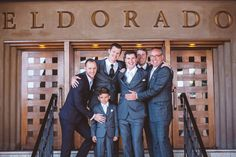 Mix-and-match groomsmen outfit idea - groomsmen wore different suits in shades of gray {Shutterfreek Photography + Video + Photo Booth}1