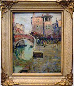 Giuseppe Marino - Venice - oil on canvas Italian Paintings, Venice, Oil On Canvas, Art, Venice Italy