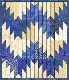 "free mountains quilt block pattern | Martha McCauley Dedicates ""Delectable Mountains"" Block Quilt"