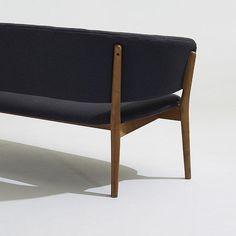 Nanna and Jørgen Ditzel settee   Knud Willadsen   Denmark, 1952   teak, upholstery   52 w x 26 d x 26.75 h inches