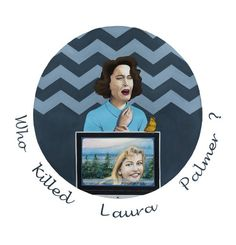 """Check out my art piece """"Twin Peaks - Who Killed Laura Palmer?"""" on crated.com"""