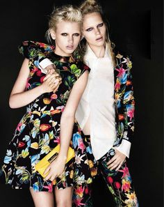 David Gubert for Marie Claire Australia March 2012 featuring Claire and Anja Konstantinova