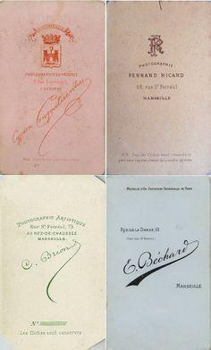 1) C. COUGOUBIENES - La Ciotat 2) Fernand RICARD … 3) C. BRION  4) E. BÉCHARD à…