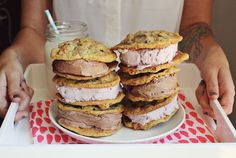 Trail mix cookie sandwhiches