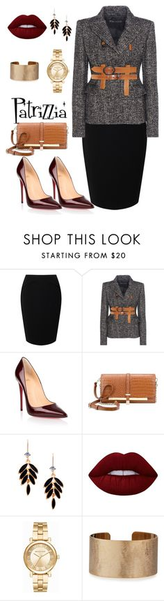 Patrizzia20.10.2016c by patrizzia on Polyvore featuring moda, Tom Ford, Jacques Vert, Christian Louboutin, Nine West, Michael Kors, Panacea and Lime Crime