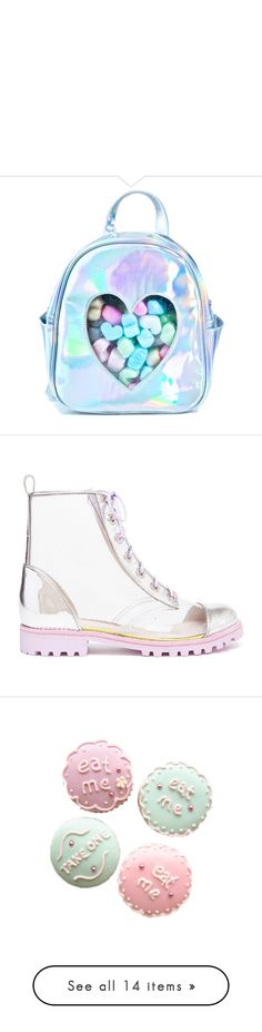 """"""""""" by murasaki666 ❤ liked on Polyvore featuring bags, backpacks, accessories, transparent backpack, blue backpack, clear backpacks, backpack bags, transparent bag, shoes and boots"""