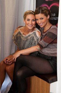 Stephanie Pratt and Amber Lancaster at the Wella Beauty Bar, photographed by Gabriel Olsen.