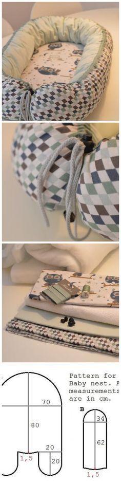 Babynest nähen ❤ Gratis Nähanleitung & Schnittmuster ❤ mit Foto-Tutorial ❤ für Anfänger geeignet ❤ Sew you own Babynest with a free sewing pattern