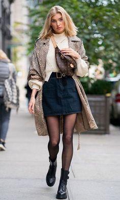 Amazing looks from Elsa Hosk that will make you look like a fashionista - Elsa Hosk - Jupe Fashion Mode, Look Fashion, Womens Fashion, Fashion Trends, Fur Fashion, Skirt Fashion, Trendy Fashion, Fashion Beauty, Elsa Hosk