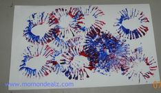 Spectacular Fireworks - Use a toilet paper roll and paint!  Easy peasy!