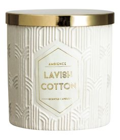 Scented candle in a jar / White / Cotton / Home