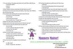 Teaching Kids Manners: Questions Every Parent Should Ask : Cornerstones for Parents