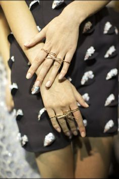 Rings Backstage at Christian Dior Spring Summer 2014