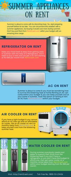 In This Summer Get Summer Appliances On Rent Such As Ac Fridge Air
