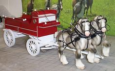 Custom Breyer Shires, with Custom made Harnesses & Wagon in Classic Size with shod Percherons Play Horse, Bryer Horses, Horse Drawn Wagon, Wooden Wagon, Clydesdale, Horse Breeds, Horse Tack, Saddles, Show Horses
