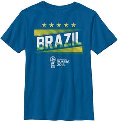 Fifth Sun Youth Fifa 2018 World Cup Russia Brazil Slanted Royal T-Shirt 9983b63062ddd
