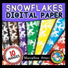 #WATERCOLOR #SNOWFLAKES #DIGITAL #PAPER #CLIPART #PACK