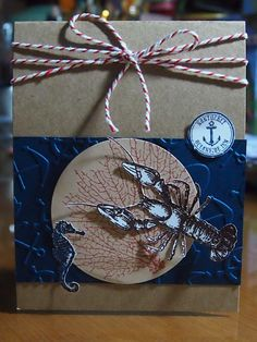 Hand Stamped By The Tide Nautical Greeting Card