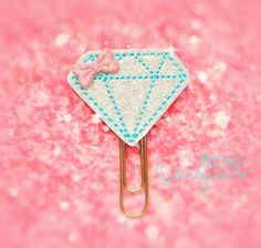 Diamond Glitter Paperclip by LittleMissDaisyrose on Etsy