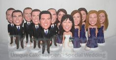 Custom bobble head gifts Wedding party gift idea for groomsman birdesmaid flower girl ring bearer
