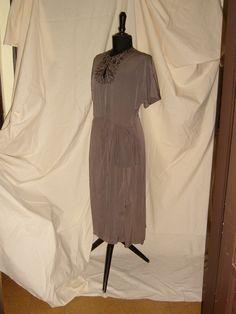EVENING DRESS in  Georgette and   Embroidery  1950  /  ABITO DA SERA in Georgette e Ricami 1950 Cold Shoulder Dress, Dresses, Fashion, Vestidos, Moda, Gowns, Fasion, Dress, Fashion Illustrations
