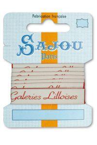 Ruban Sajou Collection Comptoir motif 4 carte un mètre