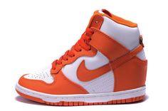 best service 76f04 e26a0 Damesschoenen - Nike Dunk Sky High Wit Oranje Loopschoenen Nieuwe Oranje  Schoenen, Sneakers Nike