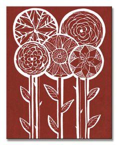 Five Flowers - Obraz na płótnie