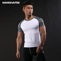 sleeve tattoos NANSHA Quick Dry Slim Fit Tees Men Patchwork T-Shirts Compression Shirt Tops Bodybuilding Fitness O-Neck Short Sleeve T Shirt * Click the image to visit the AliExpress website