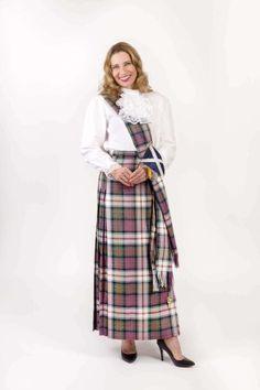 Premium Wool Hostess Kilted Skirt - Made in Scotland - The Celtic Croft Long Skirt Fashion, Modest Fashion, Skirt Pic, Sensible Shoes, Tartan Kilt, Plaid, Tartan Fashion, Scottish Fashion, Skirt Outfits