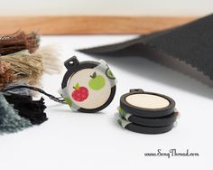 Black mini embroidery hoop 1 inch tiny miniature by SongThread