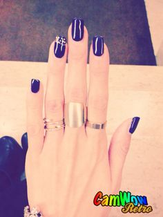 Gold rings, ring, fashion victim, nails, prune, gold, paillette