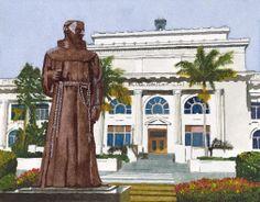 San Buenaventura City Hall - 2013 11 x 14 inch watercolor on paper.