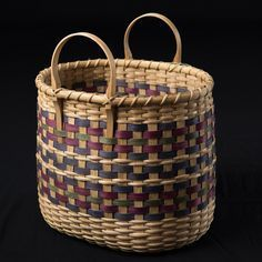 Speichern Sie alles Korb - Basket and Crate Weaving Projects, Weaving Art, Hand Weaving, Basket Weaving Patterns, Basket Crafts, Wicker Baskets, Cane Baskets, Woven Baskets, Crochet Baskets