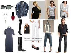 Basic staples, I would add aviators, black skinny jeans