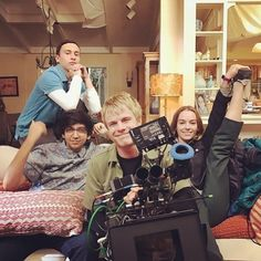 It's my boy 's birthday on set of Netflix Series, Series Movies, Tv Series, Movies Showing, Movies And Tv Shows, Casey Atypical, Brigette Lundy Paine, Tv Show Couples, Streaming Hd