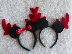 Minnie Mouse Ears and Mickey Mouse Ears with by MimiAndPasPlace, $10.00