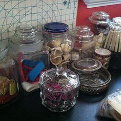 Craft room jars...