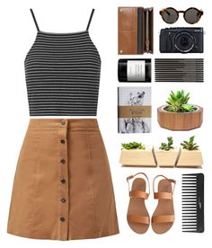 """""""Odds and Ends"""" by hiddlescat ❤ liked on Polyvore featuring Topshop, Monki, Dot & Bo, Mulberry, Byredo, Sephora Collection and Ancient Greek Sandals"""